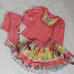 Mustard Pie top, skirt & leggings